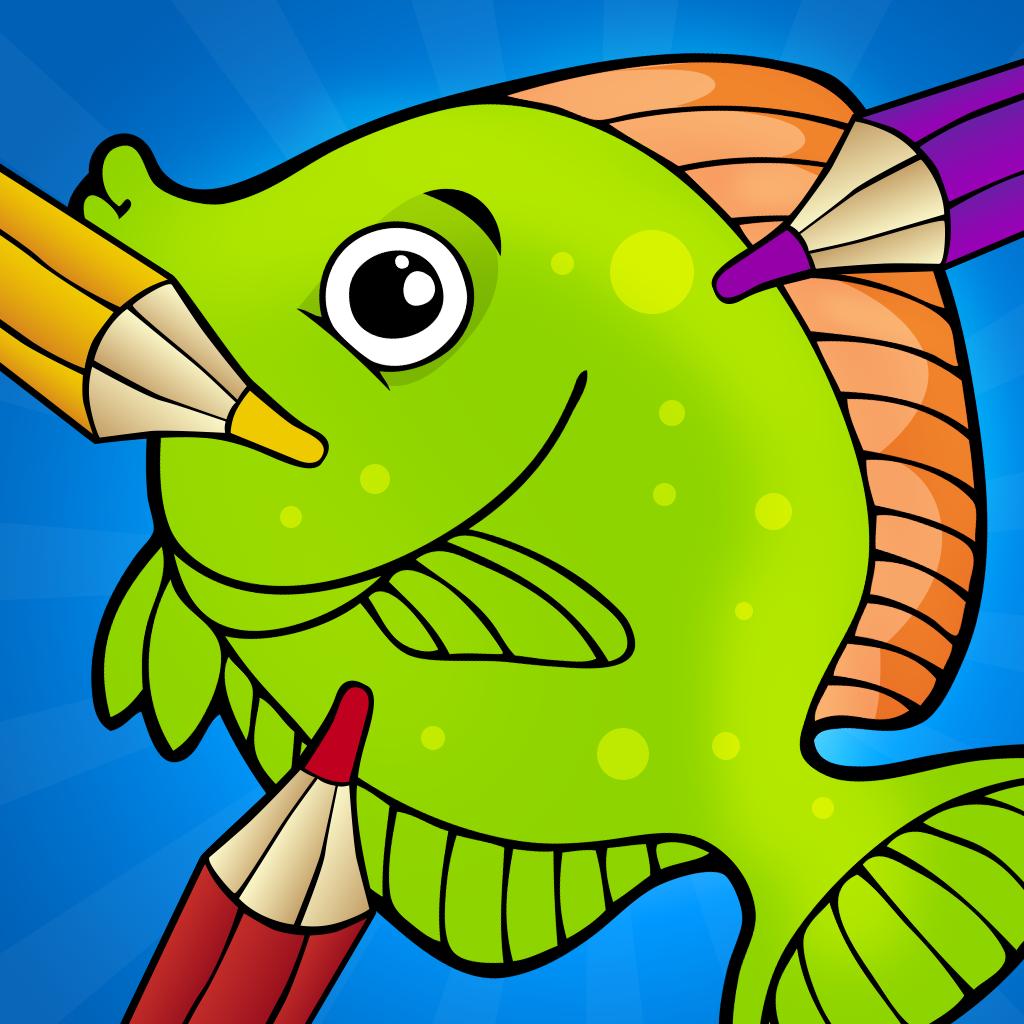 关于海洋生物的孩子: 学画画